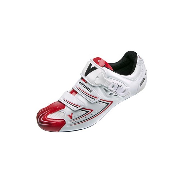 Vittoria-Shoes-V-Pro-White-Red-Cycle-Road-Bike-Shoes