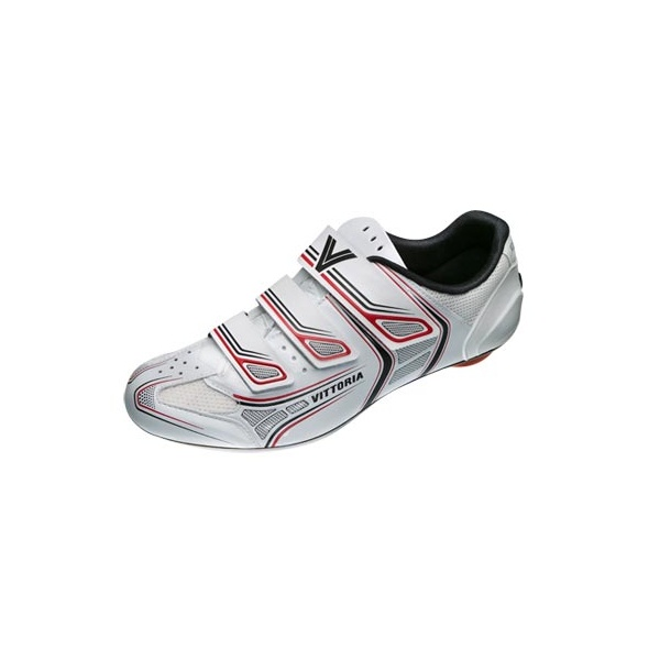 Vittoria-Shoes-Twister-Road-Bike-Cycle-White-Red-Shoes