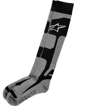 Alpinestars Adults Tech Coolmax MX Socks - GREY/BLACK/WHITE