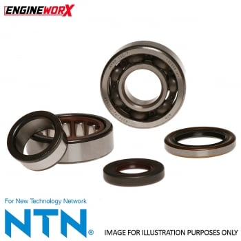 Engineworx Crankshaft Bearing & Seal Kit - Honda CR125 1986-2007