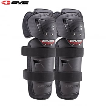 EVS Adults Option Knee Guards - Black - One Size