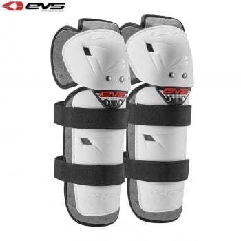 EVS Adults Option Knee Guards - White - One Size