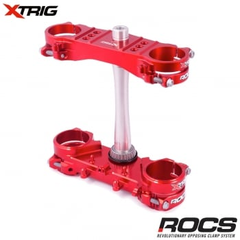 X-Trig ROCS Tech Triple Clamp Set - Honda CRF250 2018-On CRF450 2017-On - Red