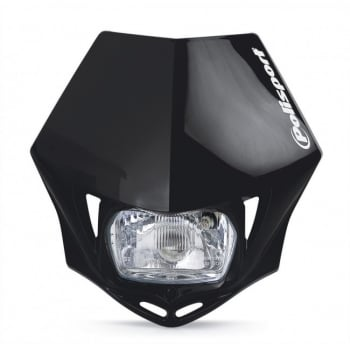 Polisport MMX Universal Front Headlight Unit - Black