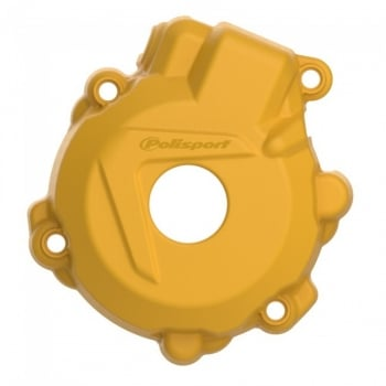 Polisport Ignition Cover Protector - KTM/Husky EXC-F250 14-16, EXC-F350 12-16, FE250-350 14-16 - Yellow