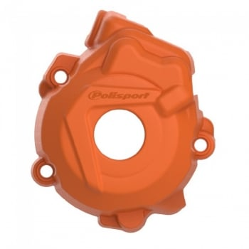 Polisport Ignition Cover Protector - KTM SX-F250 13-15, SX-F350 12-15 - Orange