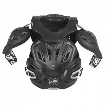 Leatt Adults Fusion 3.0 Neckvest Armour And Neck Brace - Black