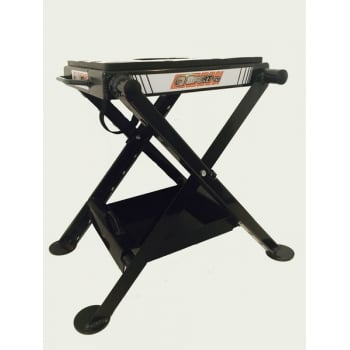 X8 Alloy Folding Stand With Tray And Oil Jug - Black