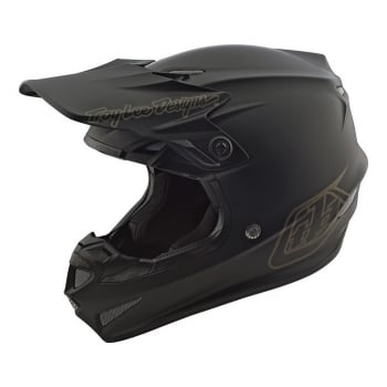Troy Lee Adults SE4 Mono Polyacrylite MX Helmet With MIPS - Black