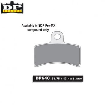 DP Off-Road/ATV (SPro-MX Compound) Brake Pads - SDP640