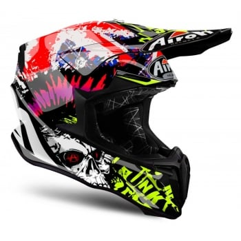 Airoh Adults Twist Crazy MX Helmet - Black