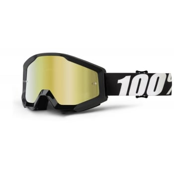 100% Adults Strata Goggles - Outlaw With Mirror Gold Lens