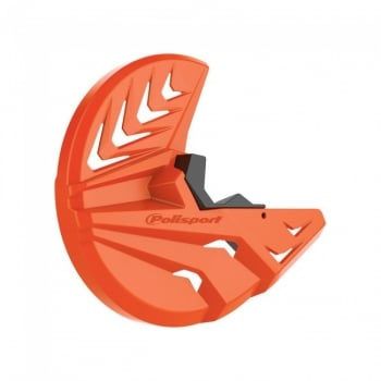 Polisport Front Disc And Bottom Fork Protector - KTM/ Husky SX/ SXF 03-14, EXC/ F 03-15, TC/ FC 2014, TE/ FE 14-15 Orange