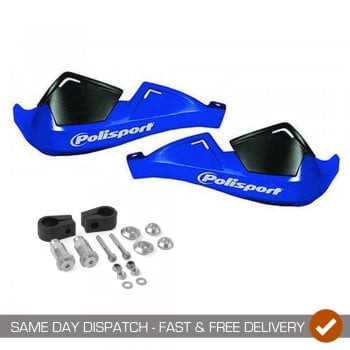 Polisport Evolution Integral Handguards With Mounting Kit - Blue