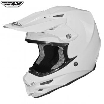 Fly Racing F2 Carbon Helmet Solid - White