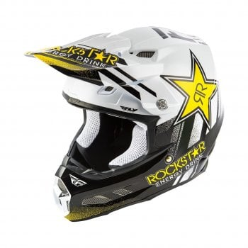 Fly Racing Adults F2 Carbon MIPS Shield Helmet - Rockstar Energy