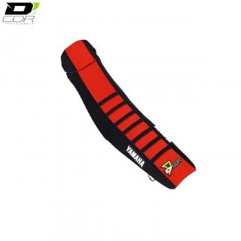 D'Cor Gripper Factory Rib Seat Cover - Black/Red/Black - Yamaha YZF 250/450 2014>Onwards