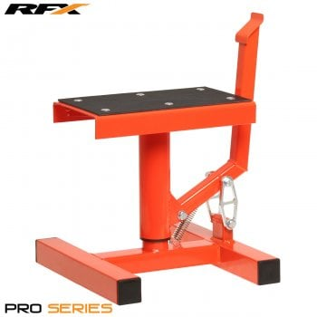 RaceFX Pro Single Pillar Lift Up Paddock Stand - Orange