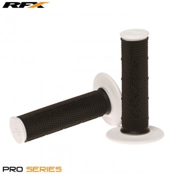 RaceFX Pro Series 20400 Dual Compound Motocross Grips - Black/ White