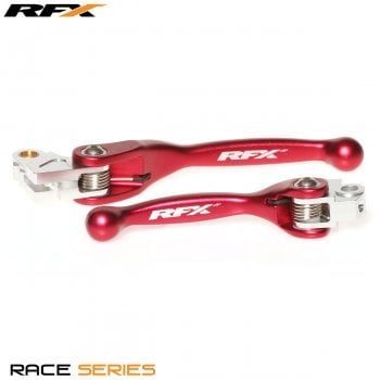 RaceFX Race Series Forged Flexible Lever Set - Honda CR 125/250 04-07, CRF 250/450 04-06, C250/450 04-17 - Red