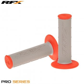 RaceFX Pro Series 20500 Dual Compound Motocross Grips - Grey/ Orange