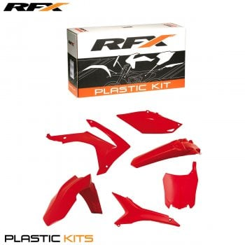 RaceFX Full Plastics Kit Inc. Airbox Covers - Honda CRF450 2013-16, CRF250 2014-16 - Red