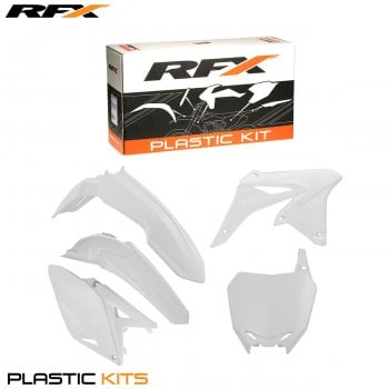 RaceFX Plastics Kit - Suzuki (White) RMZ250 10-16 (5 Pc Kit)