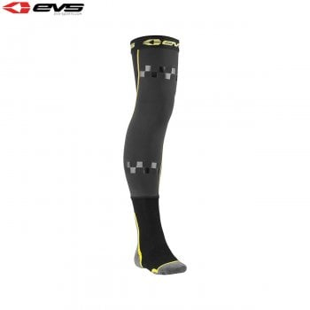 EVS Youth TUG Fusion Knee Brace Liner Socks - Black/Hi-Viz Yellow - One Size