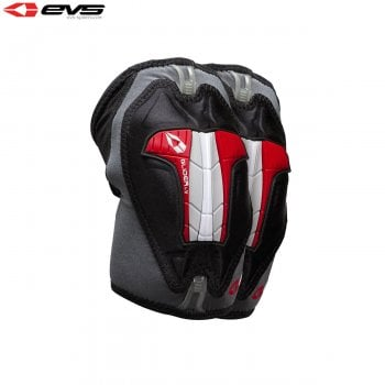 EVS Adults Glider Lite Elbow Guards - Black/Red - Pair