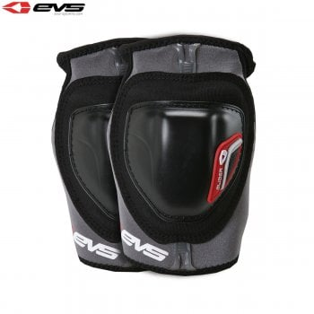 EVS Adults Glider Elbow Guards - Black/Red - Pair