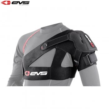 EVS Adults SB04 Shoulder Brace Stabiliser Inc Protection Cup - Black