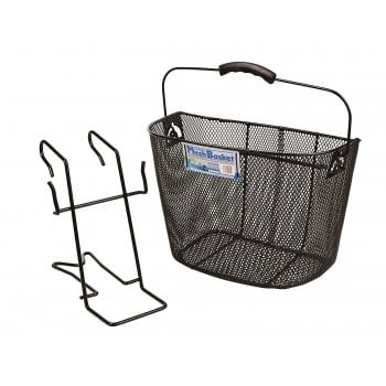 Oxford Mesh Metal Front Cycle Basket