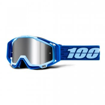 100% Racecraft+ Goggles - Rodion With Injected Silver Mirror Lens