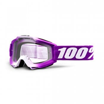 100% Accuri Goggles - Framboise With Clear Lens
