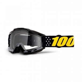 100% Accuri Goggles - Pistol With Clear Lens