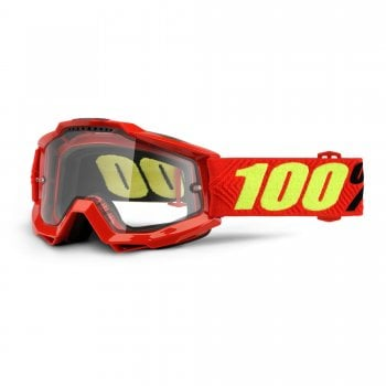 100% Accuri Enduro MOTO Goggles - Saarinen With Clear Dual Lens