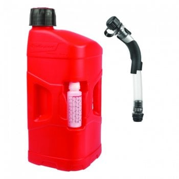 Polisport Pro-Octane Fuel Can + Fill Hose - 20L With 250ml Oil Mixer