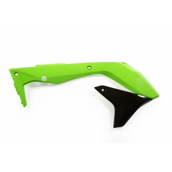 Acerbis Radiator Scoops To Fit Kawasaki KXF450 2016- 18 - Green/ Black