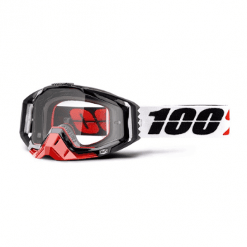 100% Adults Racecraft Tear Off Goggles - Marigot / Clear Lens
