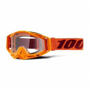 100% Adults Racecraft Tear Off Goggles - Menlo / Clear Lens