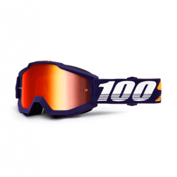 100% Adults Accuri MX Goggles - Grib/ Red Mirror Lens