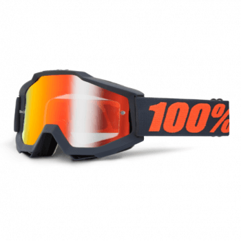 100% Adults Accuri MX Goggles - Gunmetal/ Red Mirror Lens