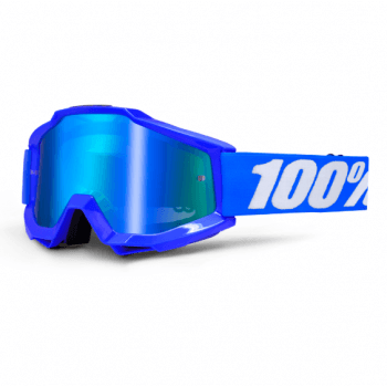 100% Adults Accuri MX Goggles - Reflex Blue/ Blue Mirror Lens
