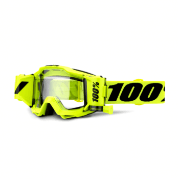 100% Adults Accuri Forecast Roll Off Goggles - Fluo Yellow/ Black