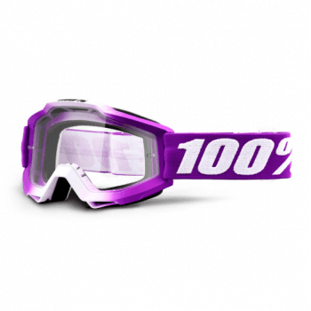 100% Youth Accuri MX Goggles - Framboise/ Clear Lens