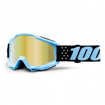 100% Youth Accuri MX Goggles Taichi/ Gold Mirror Lens