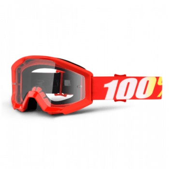 100% Youth Strata MX Goggles - Furnace / Clear Lens
