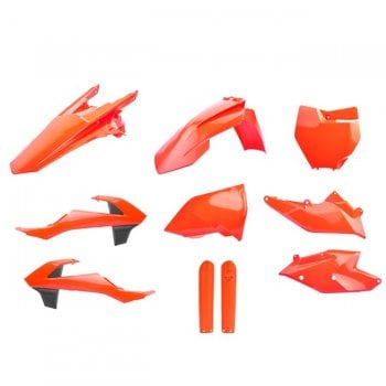 Polisport Plastics Kits - KTM SX/SXF/XC/XC-F 16-18 - Flo Orange (Includes Fork Guards)