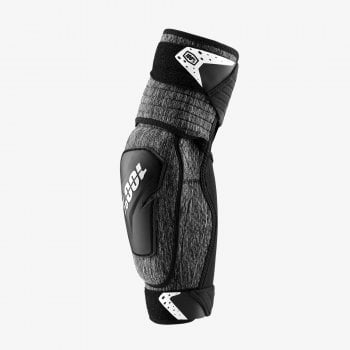100% Adults Fortis Elbow Guards - Grey Heather/ Black