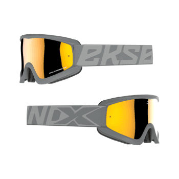 Adults GOX Flat Out Goggles With Iridium Lens - Stealth Grey/Gold